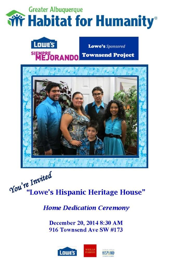 Jurado Lowe's Hispanic Heritage House- Dedication