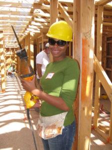 volunteer at the job site