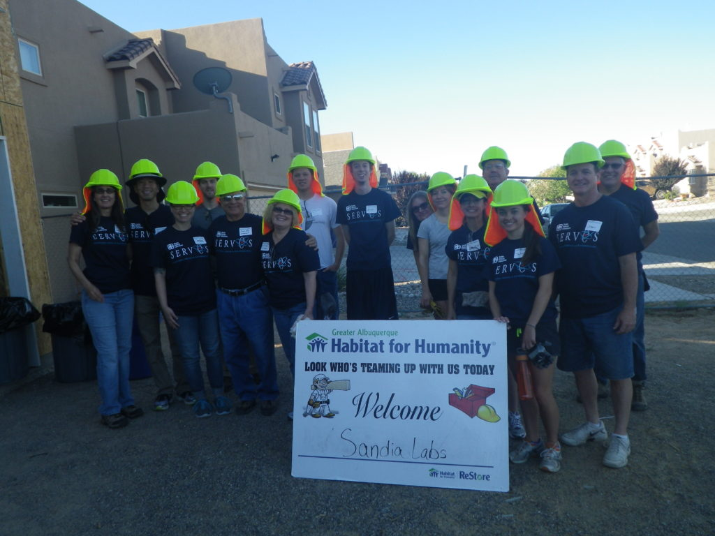 Sandia Laboratories, the Home Sponsors, working hard at the build site