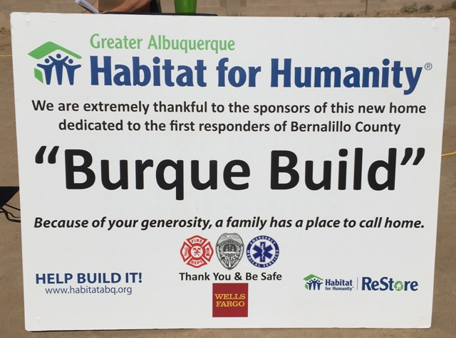 Burque Build sign
